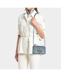 Loewe - Blue Barcelona Small Leather Bag - Lyst