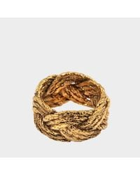 Aurelie Bidermann - Metallic Miki Ring In Gold Plated Brass - Lyst