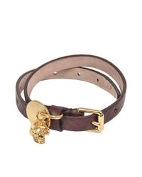 Alexander McQueen - Multicolor Skull Charm Double Bracelet - Lyst