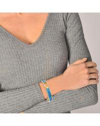 Marc Jacobs - Multicolor Double J Enamel Hinge Cuff Bracelet In Aqua Enamel - Lyst