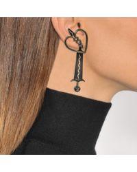 Valentino - Multicolor Loveblade Single Pendant Earring - Lyst