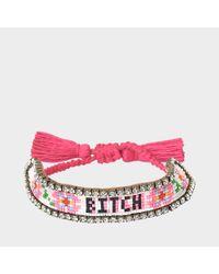 Shourouk - Multicolor Bitch Flower Bracelet - Lyst