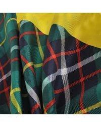 Burberry - Multicolor Vintage Check Bandana Scarf In Racing Green Silk - Lyst