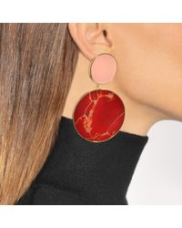 Joanna Laura Constantine - Red Monochrome Statement Earrings - Lyst