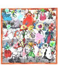 Christian Lacroix - Multicolor Les Filles En Fleurs Silk Square - Lyst