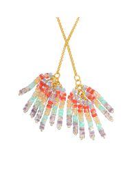 Aris Geldis   Multicolor Tie Sautoir With Multicoloured Beads   Lyst