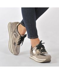 Hogan - Brown H22 Sportivo Suede Sneaker - Lyst
