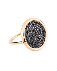 Ginette NY - Metallic Large Black Diamond Disc Ring - Lyst