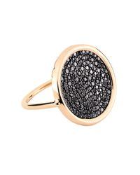 Ginette NY - Metallic Large Black Diamond 18-karat Rose Gold Disc Ring - Lyst