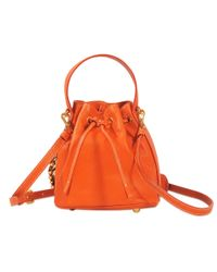 Moschino | Orange Lettering Bucket Bag | Lyst