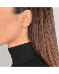 Vanessa Tugendhaft - Metallic Solitaire Earrings - Lyst