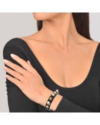 Valentino - Metallic Rockstuds Leather Pearl Bracelet - Lyst