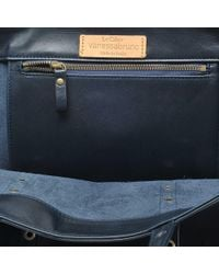 Vanessa Bruno - Blue Leather And Eyelets Medium + Tote - Lyst