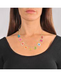 Marc Jacobs - Multicolor Logo Disc Rainbow Statement Necklace - Lyst