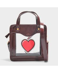 Anya Hindmarch - Multicolor Rainy Day Heart Crossbody Bag In Burgundy Synthetic Material - Lyst