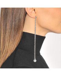 Saskia Diez - Multicolor White Barbelle Earrings - Lyst