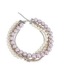 Marc Jacobs - Multicolor Multi Strand Pearl Statement - Lyst