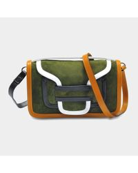 Pierre Hardy - Multicolor Alpha Crossbody Clutch Bag In Multi Khaki Suede And Calfskin - Lyst