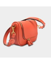 Anya Hindmarch - Red Vere Small Soft Satchel Bag In Mini Grain - Lyst
