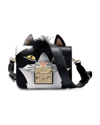 Furla - Black Metropolis Jungle Mini Crossbody Bag In Toni Onyx Ares Leather - Lyst