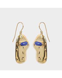 Aurelie Bidermann - Blue Peggy Earrings With Lapis Lazuli - Lyst