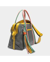 Pierre Hardy - Multicolor Rally Handbag In Black And White Calf And Lambskin - Lyst