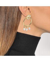 Shourouk - Metallic Loops Star Earrings - Lyst