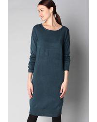 Ichi | Blue Knitwear Dress | Lyst