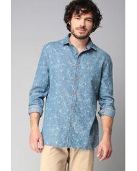 ELEVEN PARIS | Blue Long Sleeve Shirt for Men | Lyst