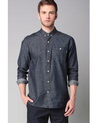 Volcom | Blue Long Sleeve Shirt for Men | Lyst
