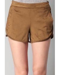 Vila - Brown Short Short - Lyst