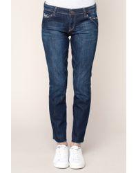 Acquaverde - Blue 7/8-length Jeans - Lyst