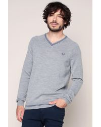 Fred Perry   Gray Sweater & Cardigan for Men   Lyst