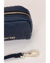 Calvin Klein - Blue Wallet And Coin Purse - Lyst