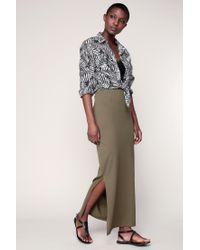 Vero Moda | Green Long Skirt | Lyst