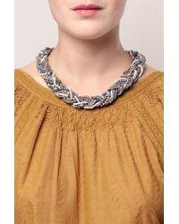 Pieces - Blue Necklace / Longcollar - Lyst