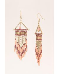 Pieces - Pink Earrings - Lyst