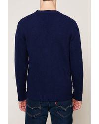 Knowledge Cotton Apparel - Blue Cardigan for Men - Lyst