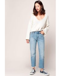 Free People - White Jumper - Lyst