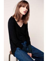 American Vintage - Black Long Sleeve Top - Lyst