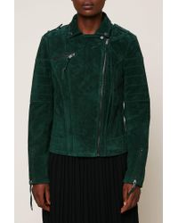 Vila - Green Leather Jackets - Lyst