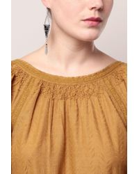 Pieces - Gray Earrings - Lyst