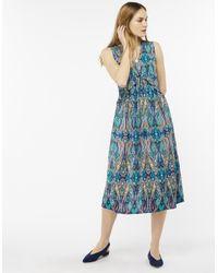 Monsoon - Blue Georgie Paisley Midi Dress - Lyst
