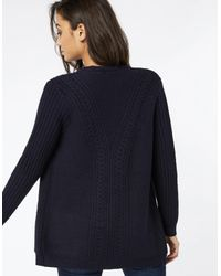 Monsoon Blue Cassie Cable Edge To Edge Cardigan