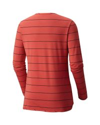 Mountain Hardwear | Red Everyday Perfect Ls Crew Top | Lyst