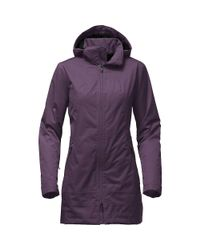 The North Face - Purple Insulated Ancha Parka - Lyst