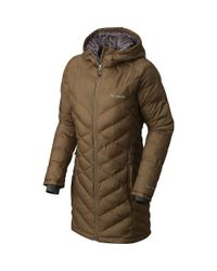 573813aaafd Lyst - Columbia Heavenly Long Hooded Jacket in Green