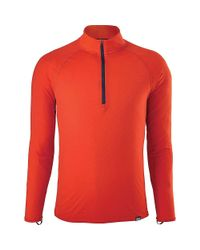 Patagonia - Red Cap Lightweight Zip Neck Top for Men - Lyst