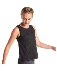 Oiselle - Black Tech Suede Tank Top - Lyst