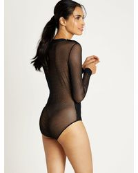 Morgan Lane | Black Samantha Bodysuit In Noir | Lyst
